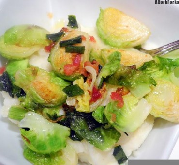 Brussels Sprouts Pancetta Colcannon