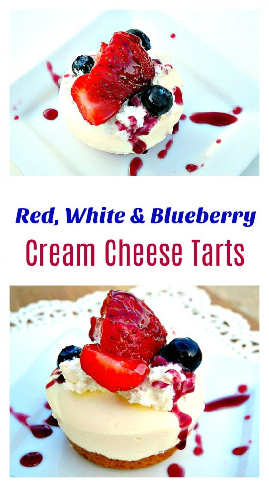 Red White and Blueberry Cream Cheese Tarts6