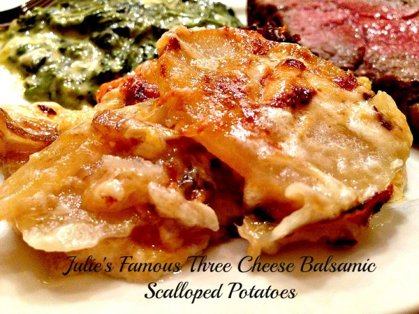 Three Cheese Balsamic Scalloped Potatoes – A Cork, Fork, & Passport ...