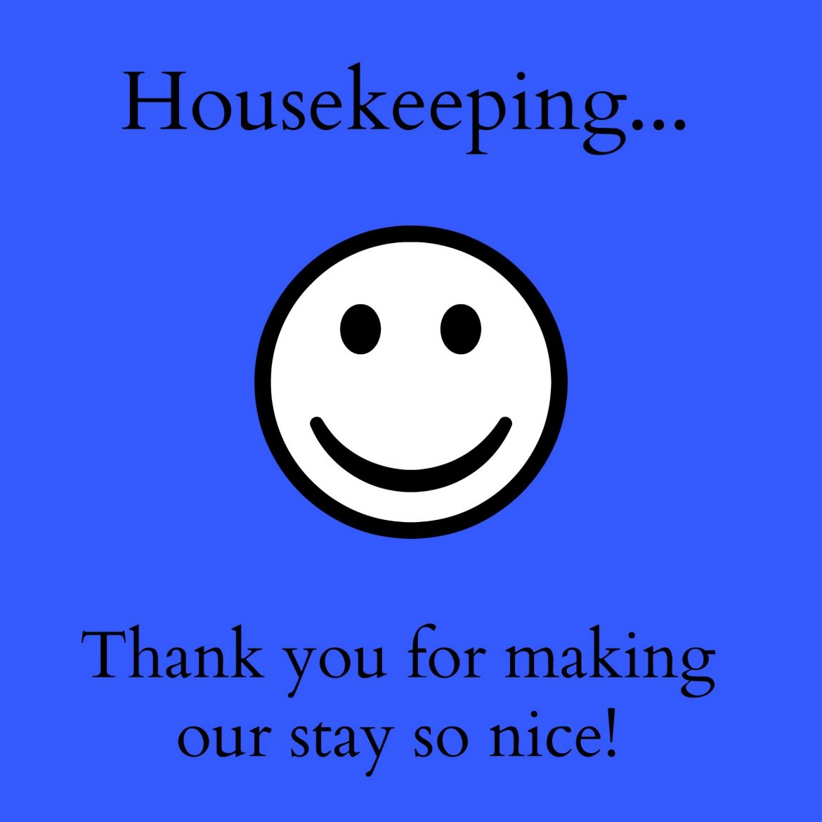 Thank you housekeeping 4