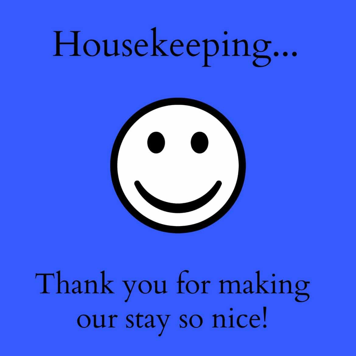 thank you notes for hotel housekeeping  printables   u2013 a