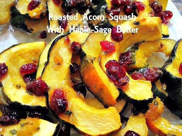 Roasted Acorn Squash With Maple-Sage Butter 2