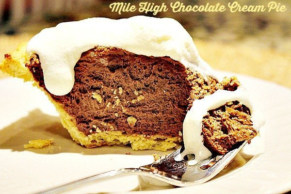 Mile High Chocolate Cream Pie