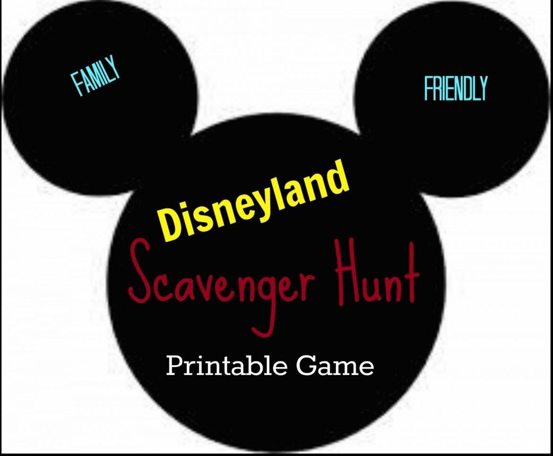 Disneyland Scavenger Hunt game
