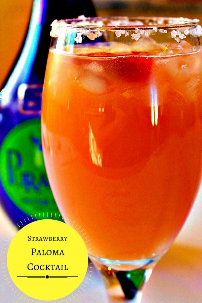 Strawberry Paloma cocktail