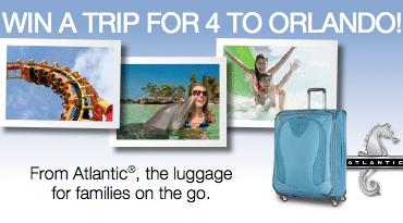 Win A Family Vacation to Orlando With Atlantic Luggage
