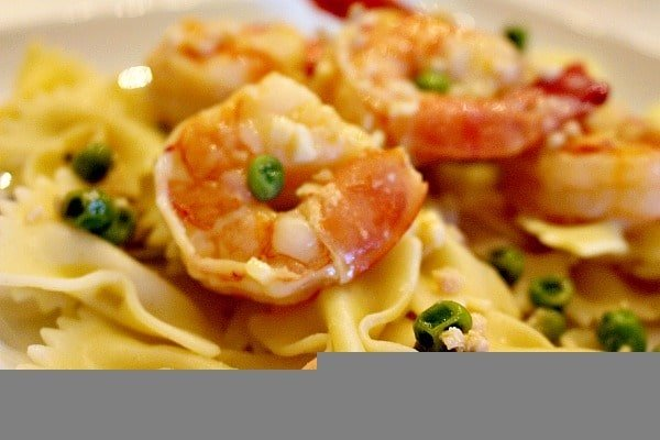 Shrimp Scampi with Peas 6