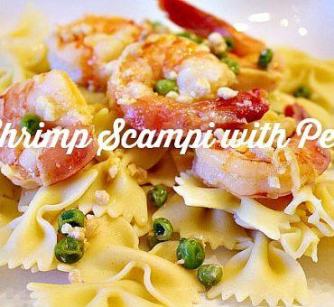 Shrimp Scampi With Peas