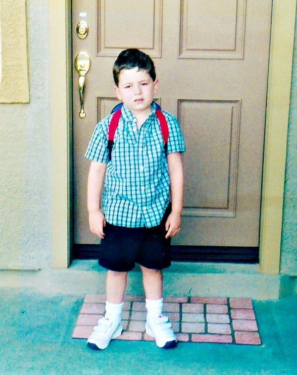 First day of kindergarten, 2003