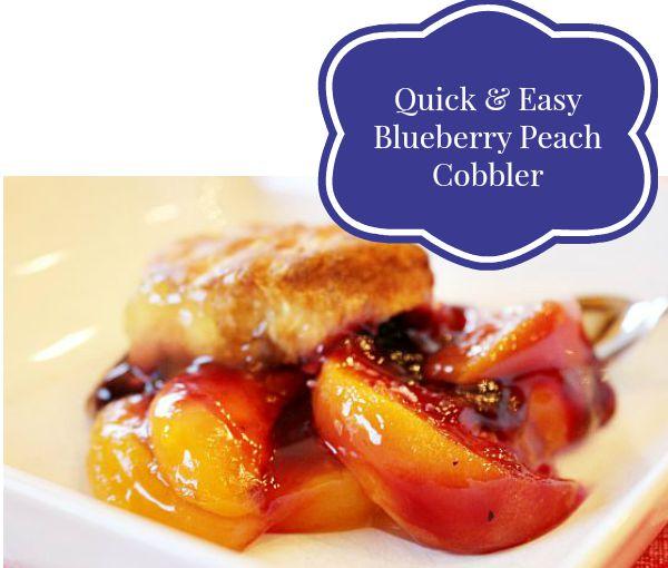 Quick & Easy Blueberry Peach Cobbler