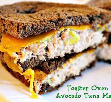 Toaster Oven Avocado Tuna Melts