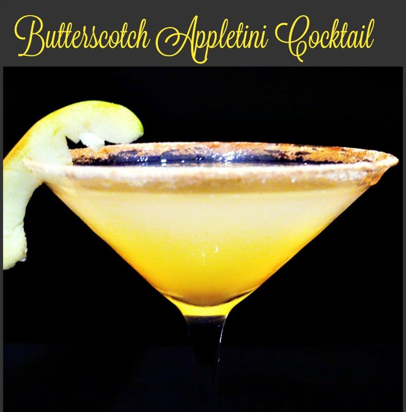 Butterscotch Appletini cocktail4
