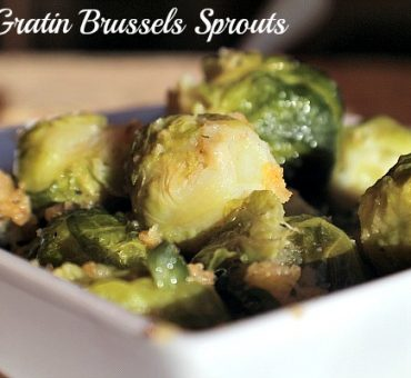 Au Gratin Brussels Sprouts