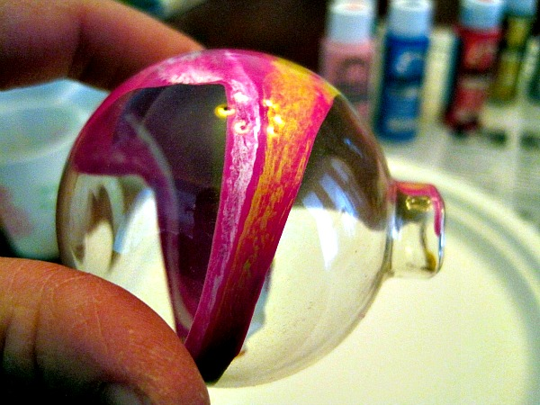 DIY Swirl Paint Glass Ornament 3