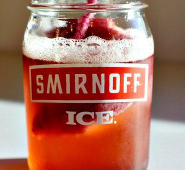 Smirnoff Ice Peach Bellini Float