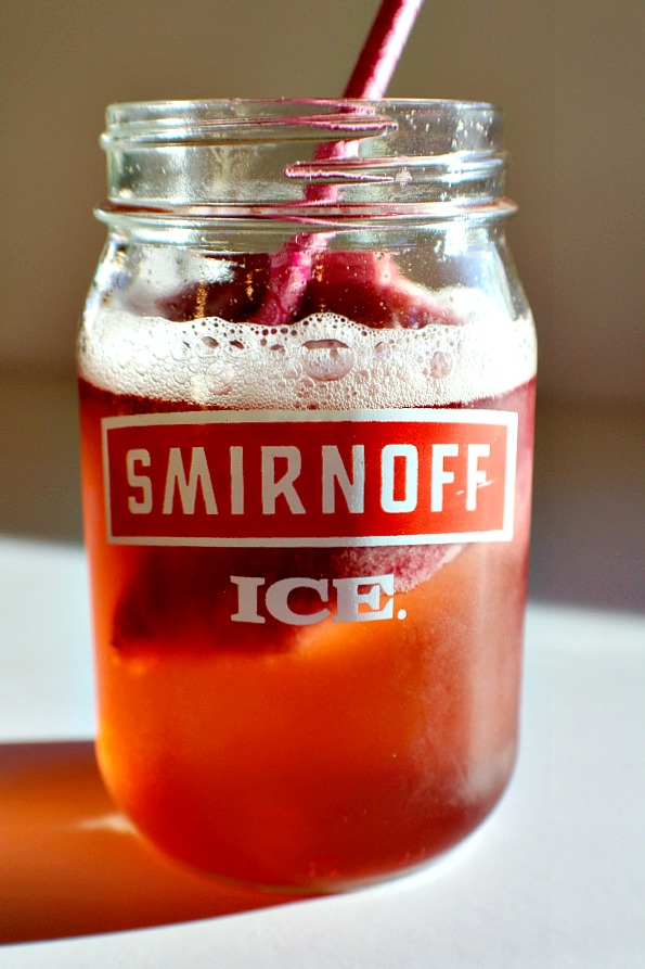 Smirnoff Ice Raspberry Peach Bellini Float