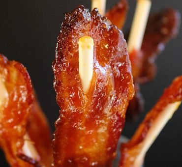 Candied Bacon Lollipops
