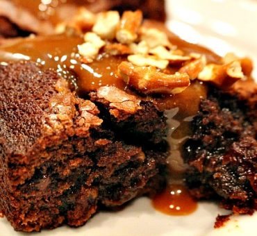 Caramel Pretzel Brownies