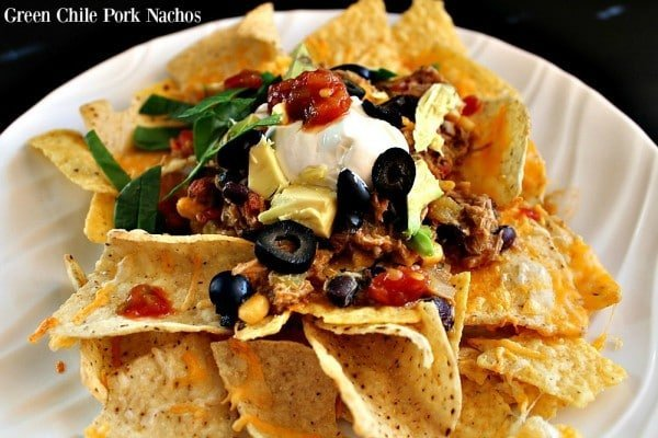 Green Chile Pork Nachos