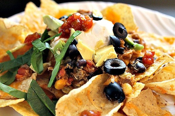 Green Chile Pork Nachos 6