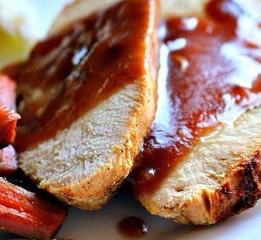 Roast Turkey with Cranberry Bourbon Glaze