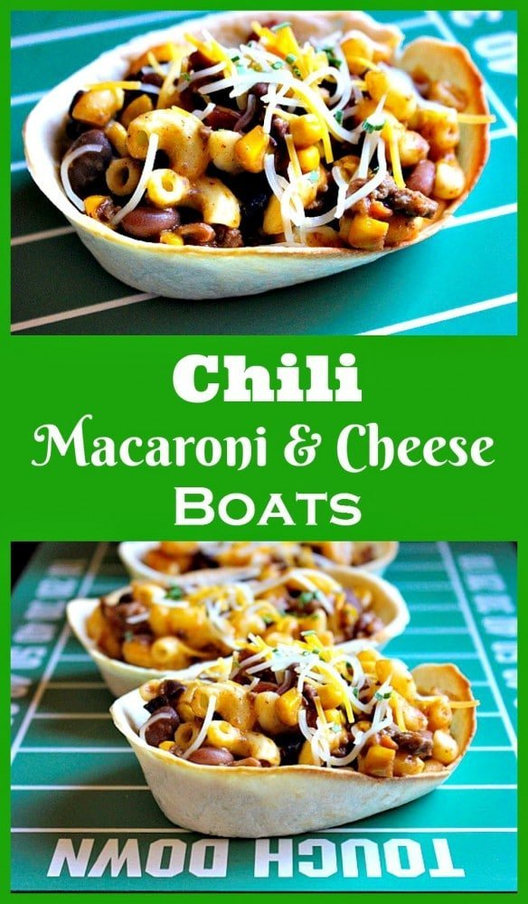 Chili Macaroni and Cheese Boats 6