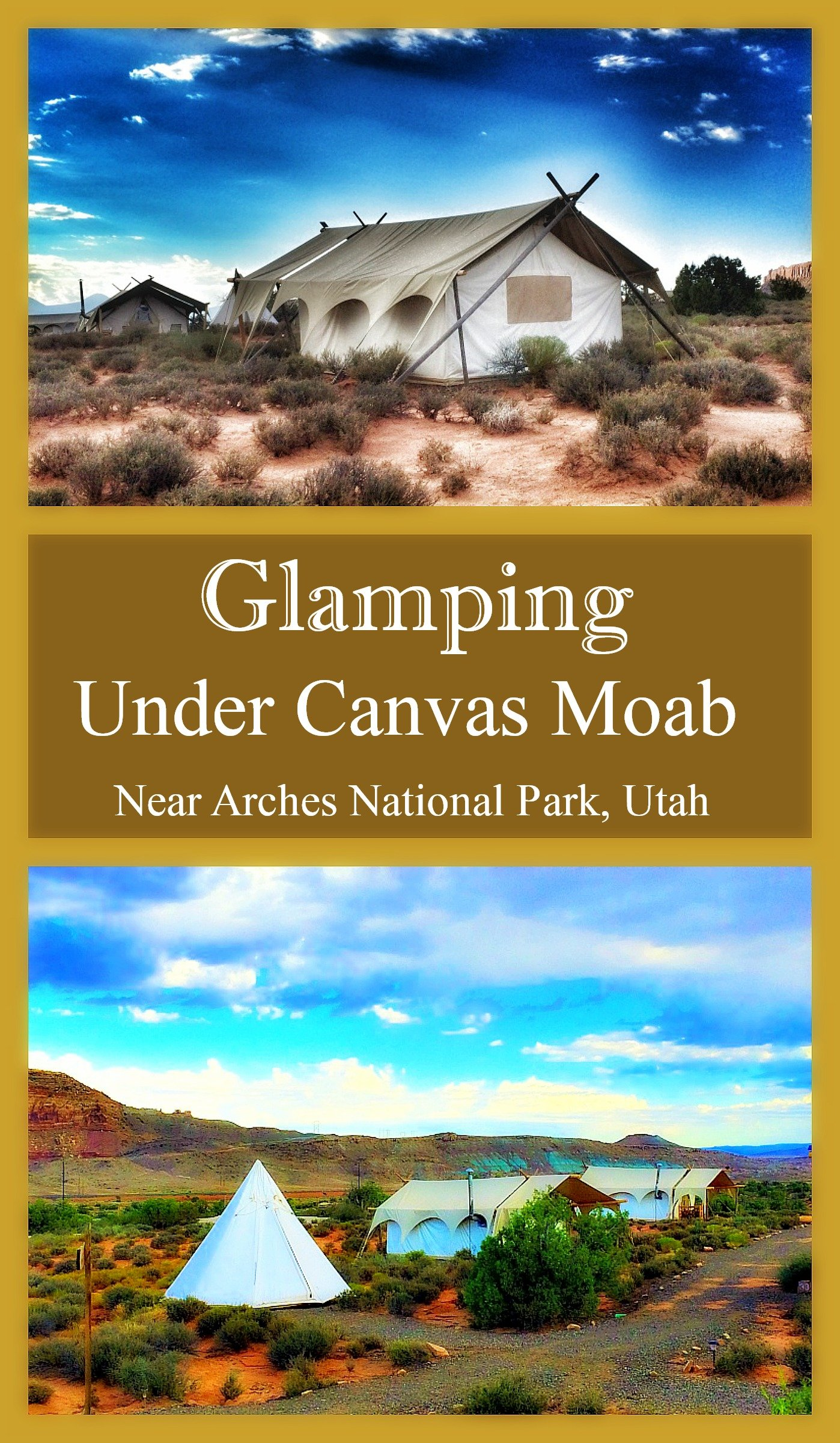 Traveling to Arches or Canyonlands National Park in Utah?  Try glamping Under Canvas Moab for a unique family tent lodging experience.