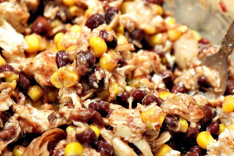 Black Bean Chicken Chile Enchiladas5