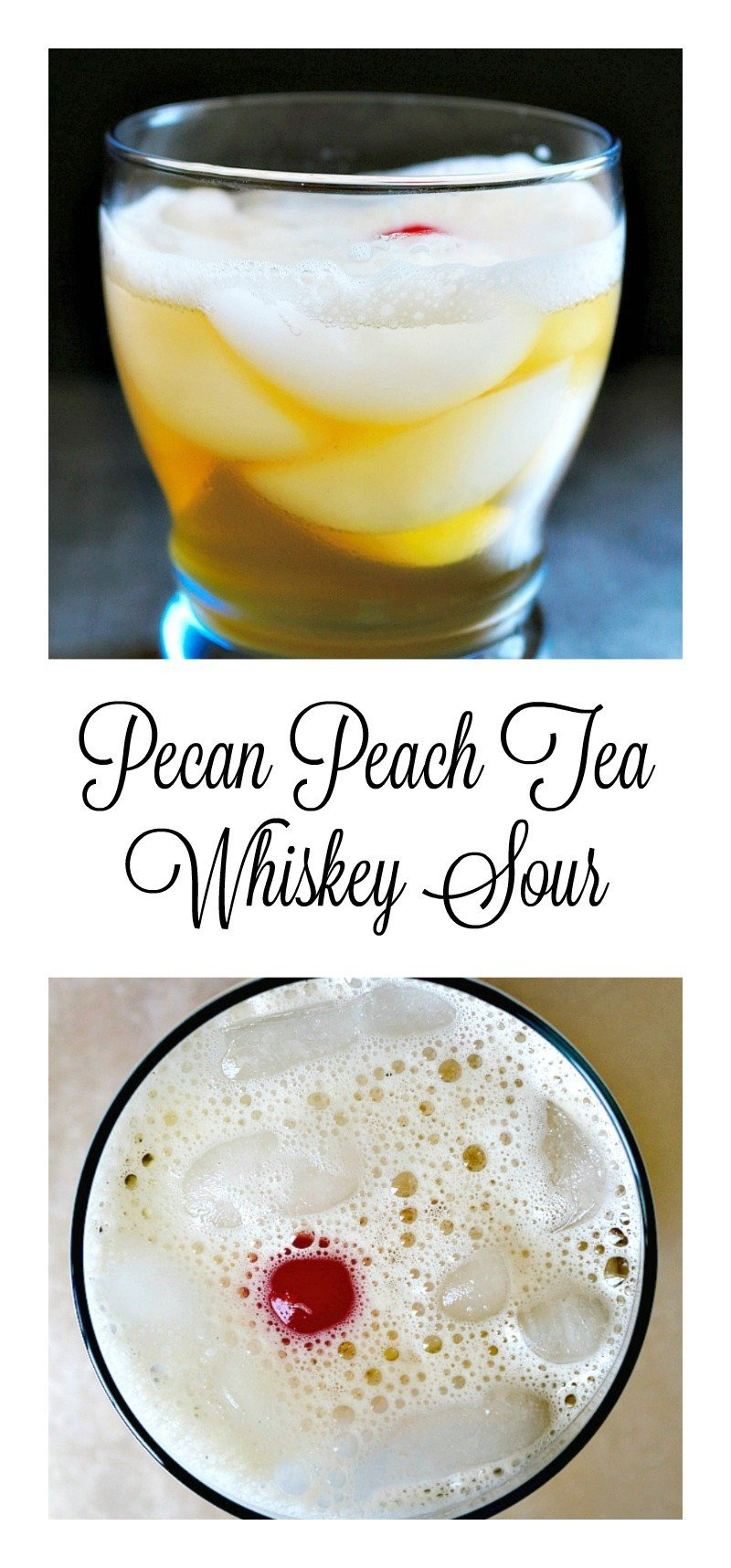 A deliciously smooth spiked sweet tea sour made with Old Camp Whiskey, with the flavors of pecan and peach.