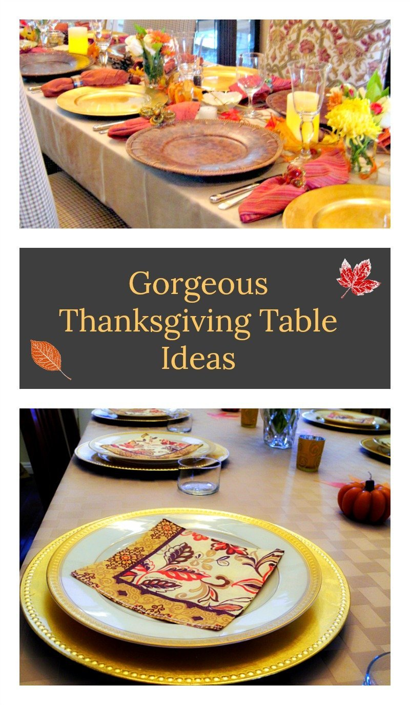 Festive ideas for a gorgeous Thanksgiving table.