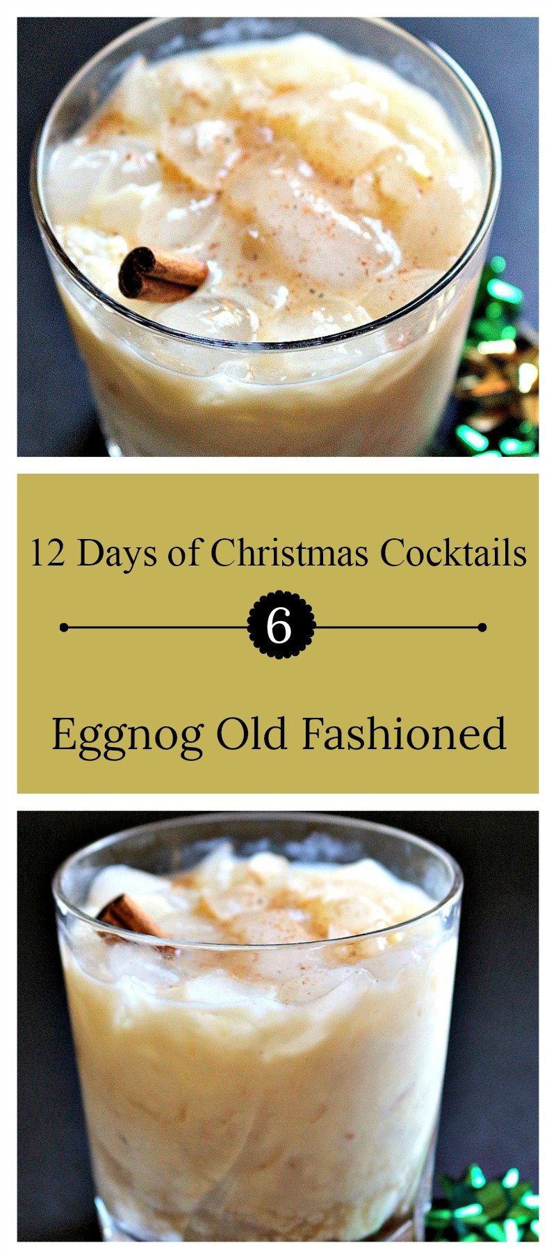 Day 6 of the 12 Days of Christmas cocktails | A delightful holiday cocktail with eggnog, brandy, Frangelico, and cardamom bitters.