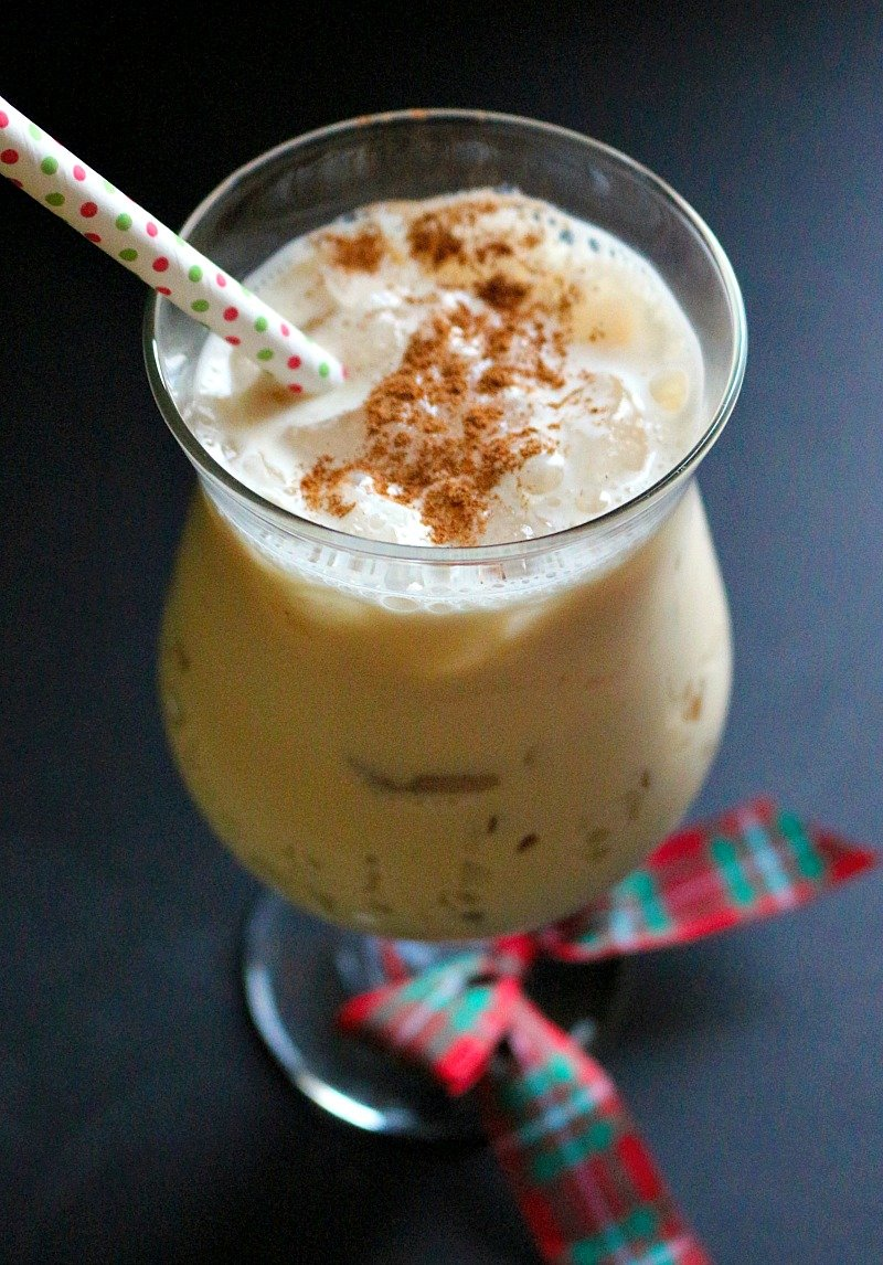 Day 8 of the 12 Days of Christmas cocktails | Traditional milk punch with the added kick of espresso liqueur.