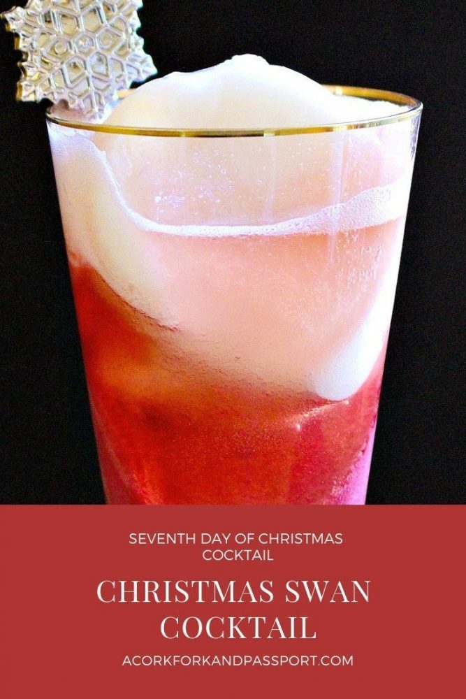 Seventh Day of Christmas Cocktail - Christmas Swan Cocktail