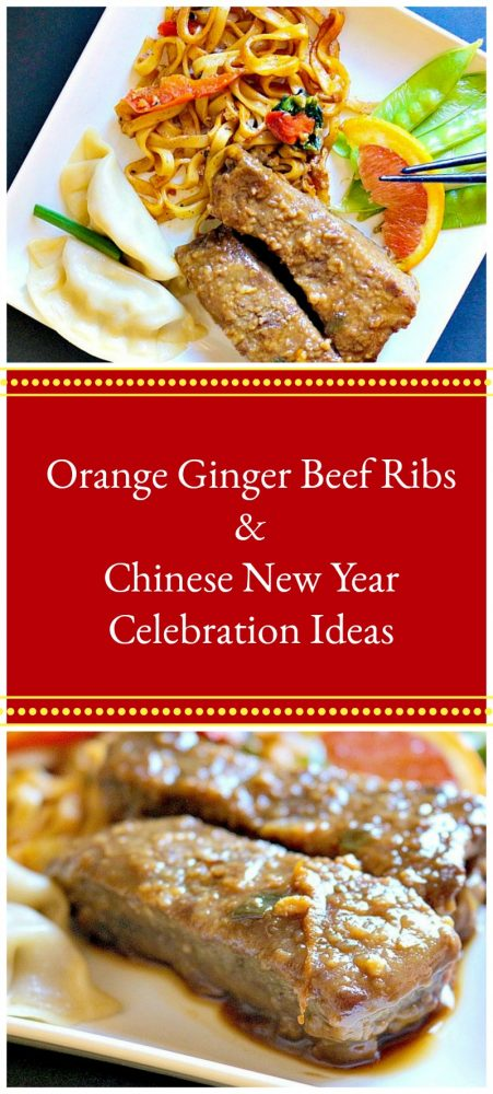 Tangy orange ginger beef ribs make Chinese New Year delicious, plus some Chinese New Year ideas from Ling Ling!