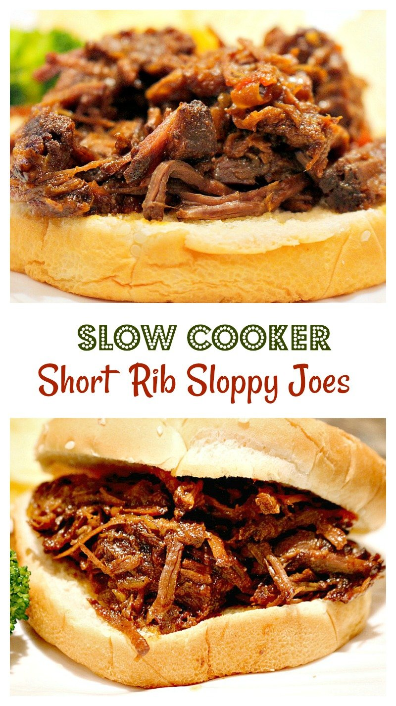 Deliciously tangy homemade sloppy Joes made with beef short ribs in the slow cooker.