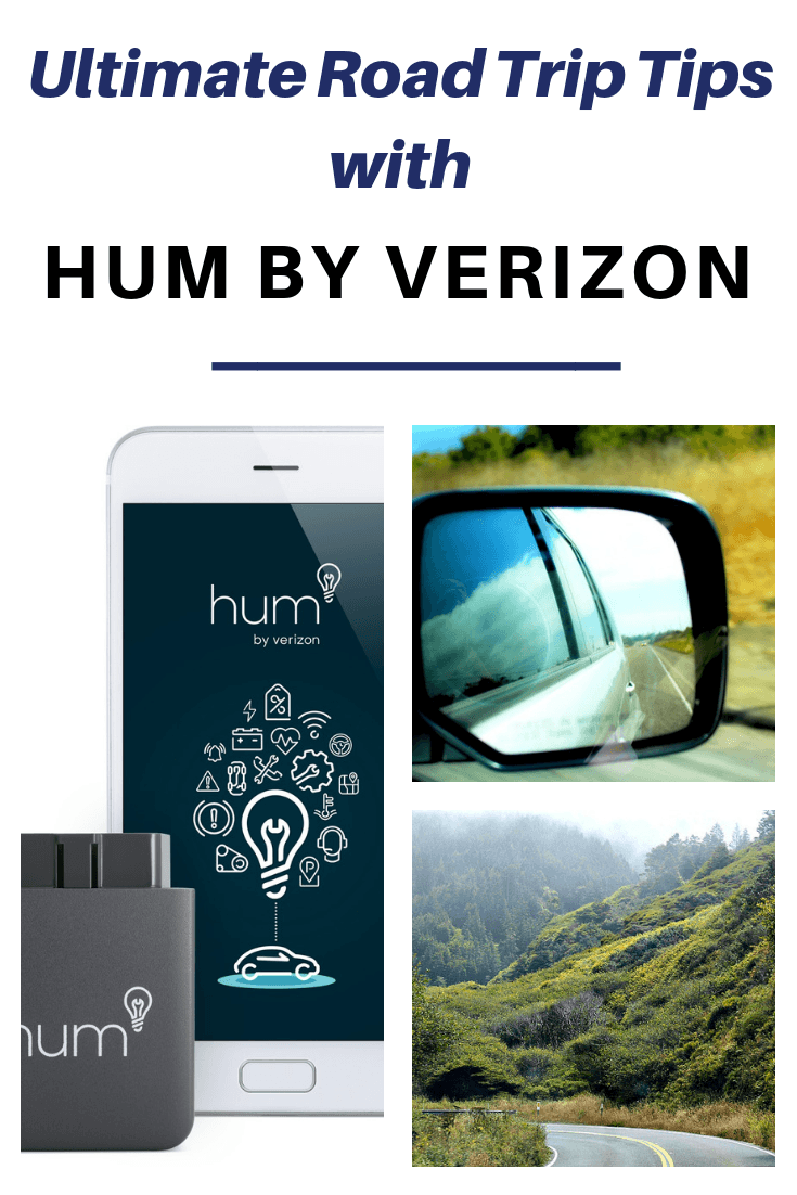 #ad Make all your road trips ultimate with these road trip tips + Verizon's driving and safety technology app, Hum.  #brandpartner