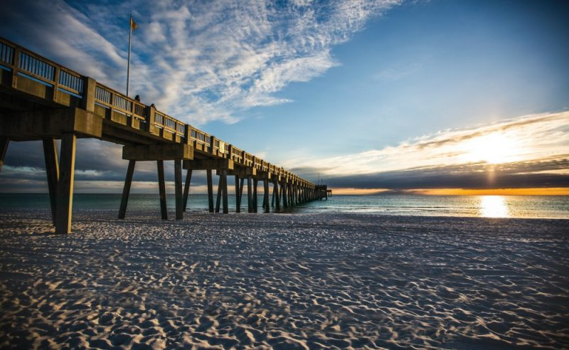 Panama City Beach Pier Sunset