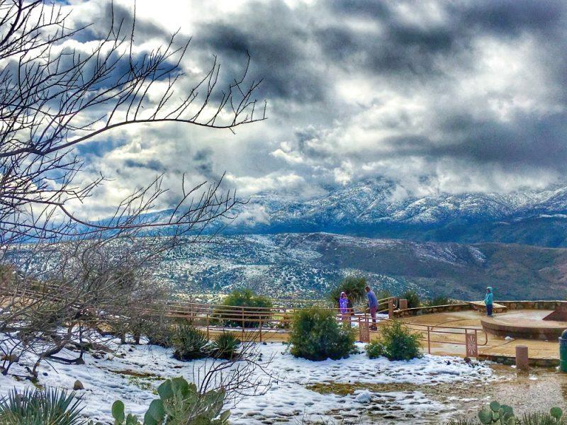 Snow in Central Arizona1