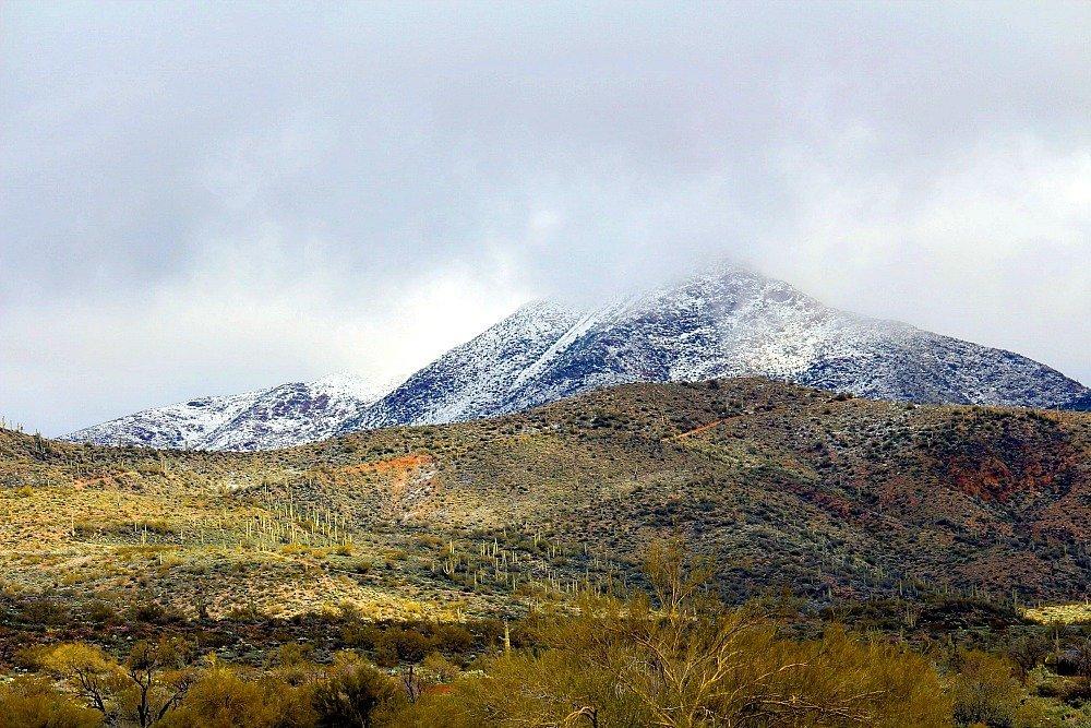 Snow in Central Arizona7