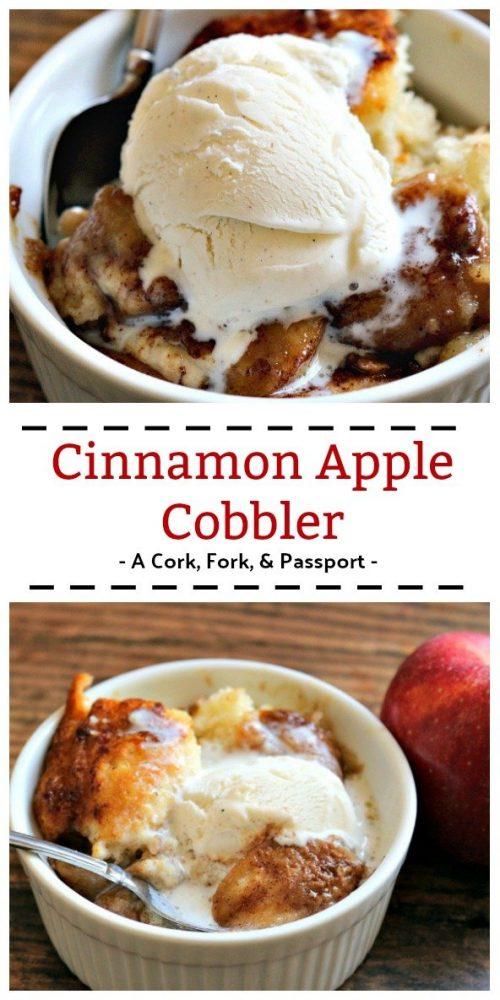 Cinnamon Apple Cobbler #apples #cobbler #fall #fallrecipes