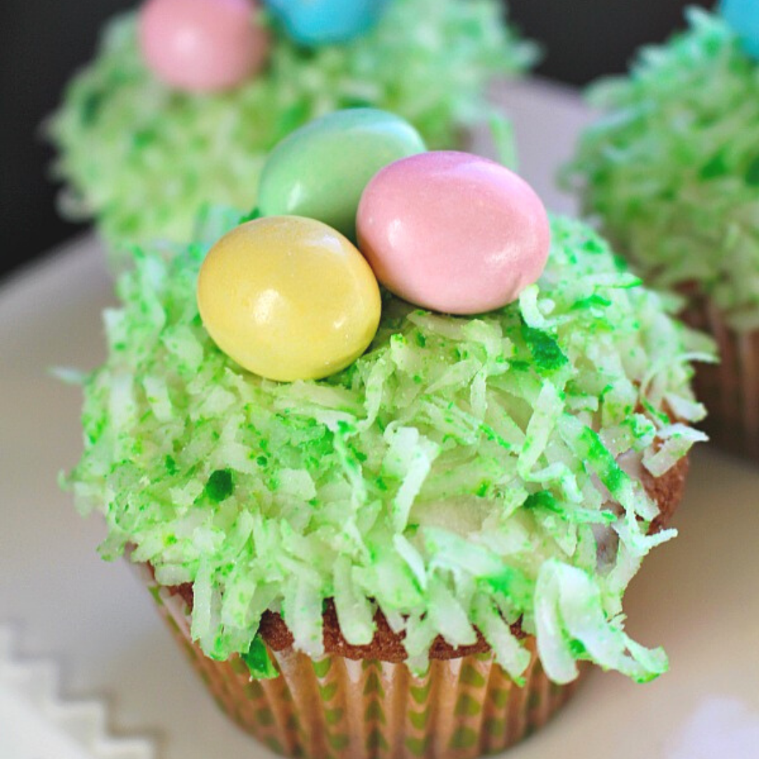 Coconut Easter Basket Cupcakes1