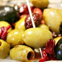 Cranberry Balsamic Marinated Olives