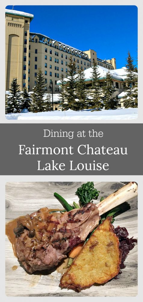 Dining at the Fairmont Chateau Lake Louise