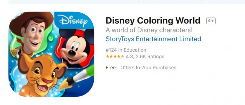 Disney Coloring World App