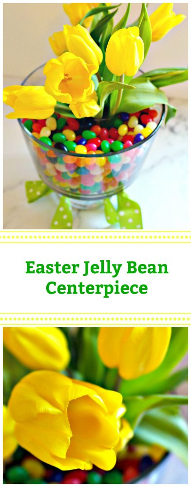 DIY Easter Jelly Bean Centerpiece