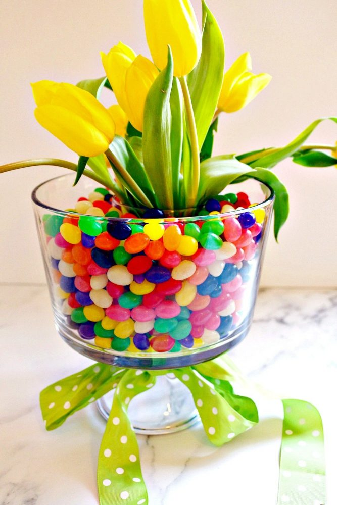 DIY Easter Jelly Bean Centerpiece3