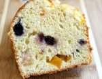 Easy Blueberry Peaches & Cream Bread