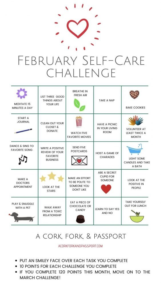 February Self-Care Challenge for Women4