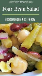 Four Bean Salad Mediterranean Diet Friendly