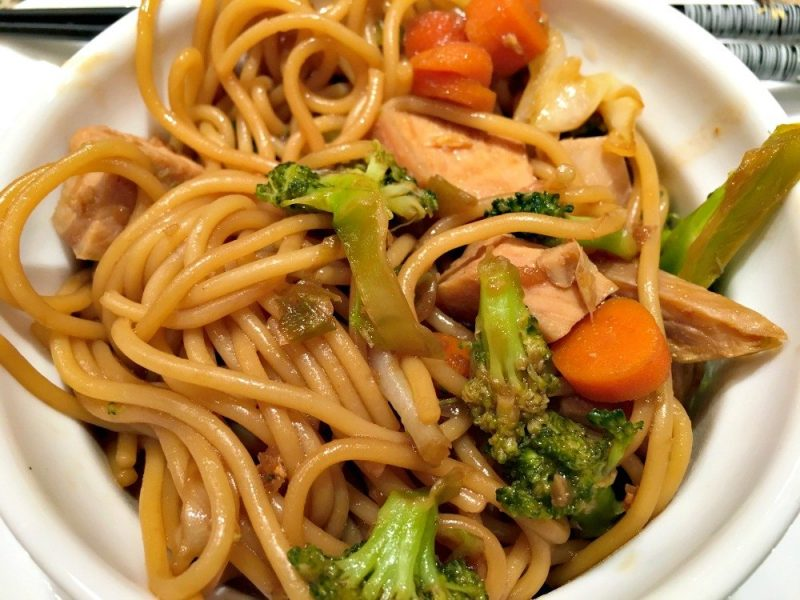 Garlic Ginger Noodles with Chicken3